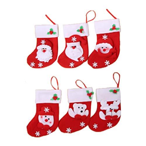 Weihnachtsstrumpf Mini Socke Weihnachtsmann Schneemann Süßigkeiten Geschenktüte Weihnachtsbaum Hängen Dekor Messer Gabelhalter
