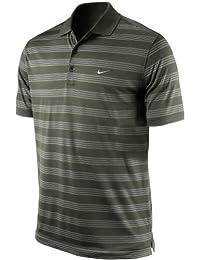 nike golf tour performance tech core stripe polo neck t shirt 452506 805 dri-fit stay cool