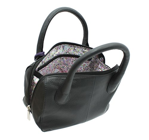 Borsa a mano Mala Leather ANISHKA Collection in pelle 774_75 Grigio Nero