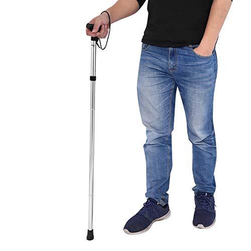 bastón plegable / bastón / bastón de escalada / anciano multifunción(blanco)