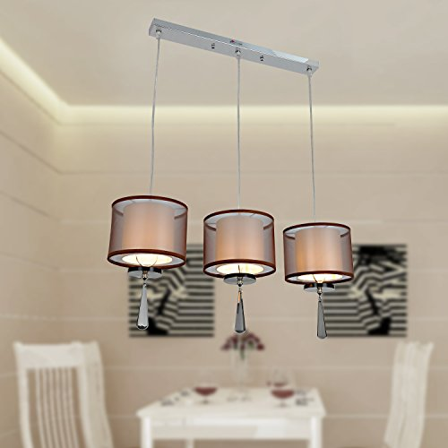 OOFAY LUCE 3 luce lampadario di cristallo moderno e minimalista sala da pranzo europea