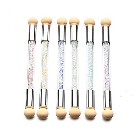 KEERADS poudre pour vérification ensemble des paillettes gradient pen outils de manucure brosse + 6 éponge