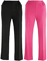 25c72c4d3f Cotton Traders Womens Ladies Pack of 2 Casual Trousers Pants 27