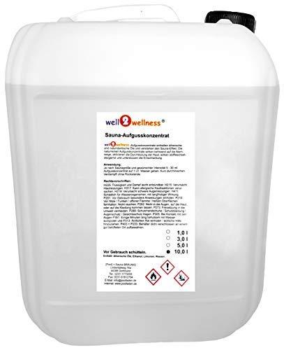 well2wellness® Saunaaufguss 10 liter - über 180 Saunadüfte zur freien Wahl …