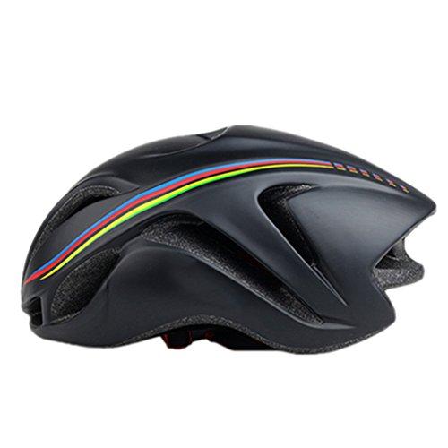 XY&CF Schwarz Helm Fahrradhelm Herren und Damen Safety Adjustable Lightweight Helm