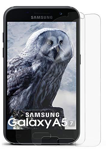 2X Samsung Galaxy A5 (2017) | Schutzfolie Matt Bildschirm Schutz [Anti-Reflex] Screen Protector Fingerprint Handy-Folie Matte Bildschirmschutz-Folie für Samsung Galaxy A5 2017 Bildschirmfolie