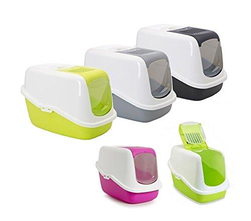 Toilette accessoriata Savic Nestor - Lettiera per gatti, in plastica, completa di accessori (Grigio)