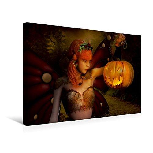 Calvendo Premium Textil-Leinwand 45 x 30 cm Quer-Format Happy Halloween | Wandbild, HD-Bild auf Keilrahmen, Fertigbild auf hochwertigem Vlies, Leinwanddruck von Andrea Tiettje Kunst Kunst