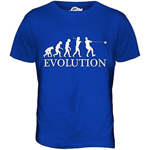 CandyMix Lancio Del Martello Evoluzione Umana T-Shirt da Uomo Maglietta