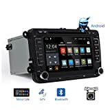 Doppel DIN Android Camecho Auto Stereo CD DVD Player mit GPS Navi Touch Screen Auto Multimedia Player Auto Radio Audio für VW/Golf/6/Golf/5/Passat/Jetta/T5/EOS/POLO/Touran/SEAT/Sharan/CANBus (mit 12 LED Rückfahrkamera)