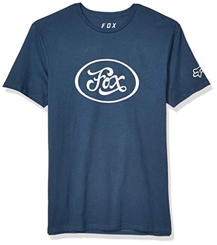 Fox Herren Badge Short Sleeve Premium T-Shirt, Navy, Mittel - Fox Navy T-shirt