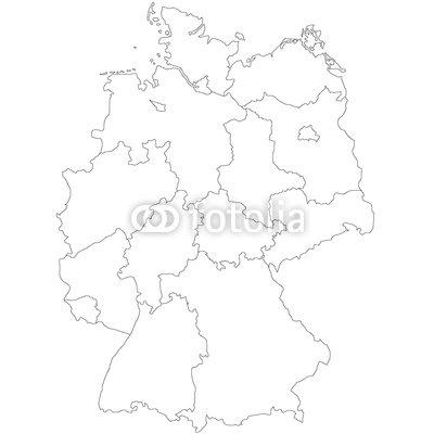 """Leinwand-Bild 60 x 60 cm: \""""Deutschlandkarte\"""", Bild auf Leinwand"""