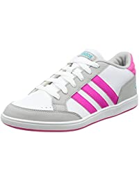 Scarpe Adidas ragazza breve Edge K Bianca/Rosa, bianco