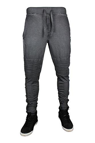trueprodigy Casual Herren Marken Jogginghose einfarbig Basic, Sweathose cool und stylisch Vintage (Sportlich & Slim Fit), Chino Sweatpant für Männer in Farbe: Grau 6473105-0403 Anthracite