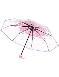 TITAP Travel Umbrella,Anti-UV Sun/Rain Umbrella,3 Fold Umbrella Windproof Transparent Clear Auto Open Close Umbrellas...