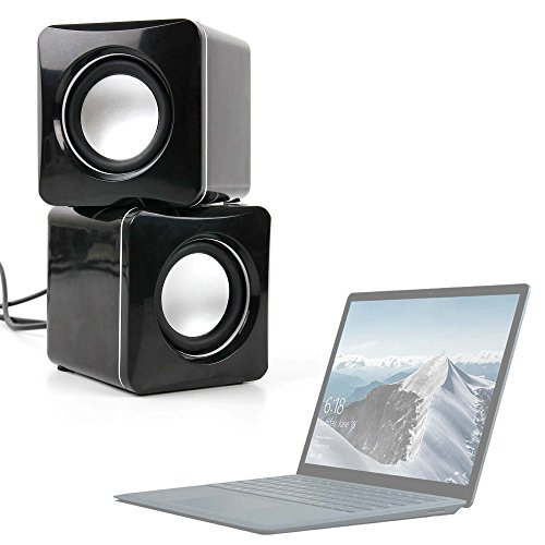 DURAGADGET Small & Portable USB Powered Speakers With Volume Dial for the Microsoft Surface Laptop