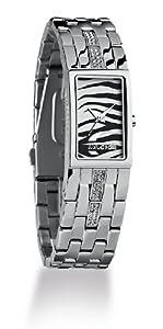 Just Cavalli Squared Just time R7253143525 - Reloj de mujer de cuarzo, correa de acero inoxidable color plata de Just Cavalli