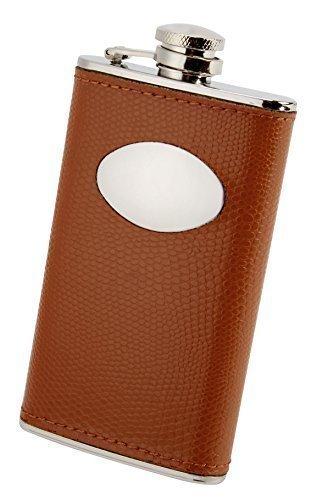 4 oz, rettangolare, colore: marrone-Fiaschetta con rivestimento