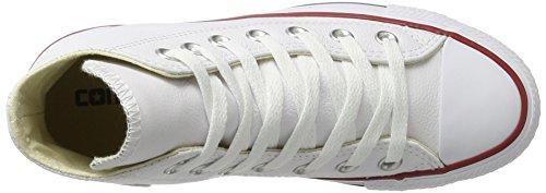 Converse Chuck Taylor Ct Hi Leather, Scarpe da Ginnastica Unisex-Bambini, Bianco (White 100), 35 EU