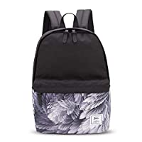 FANDARE Unisex Backpack Casual Daypack for Men/Women School Bag for Boy/Girl Campus Book-Bag Outdoor Travel Camping Lightweight Bag Black Gray