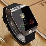 #6: Raptas Mi Redmi Note 4G Compatible Certified Bluetooth DZ09 Smart Watch Wrist Watch Phone with Camera & SIM Card Support