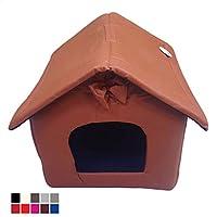 takestop® caseta casita Cama Tumbona Cortina Portátil 12060 ecopiel Interior 47 x 45 x 45