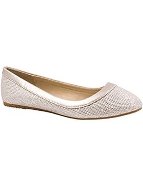 Elara Damen Ballerina | Hochwertige Glitzer Slipper | Flats Slip-Ons