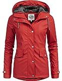 Peak Time Damen Winter Regenmantel L60043 Rot Gr. L