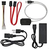 SATA/PATA/IDE Drive to USB 2.0 Adapter Converter Cable for 2.5 / 3.5 Inch Hard Drive / Optical Drive with External AC Power A