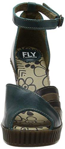 FLY London Gami906, Escarpins Femme Bleu (Petrol/Grey/Black 001)