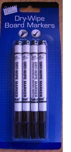 4-x-dry-wipe-board-marker-pens-black