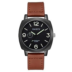 Herren Uhren, BBring GAIETY Männer Mode Retro PU Lederband Quarz Analog Armbanduhren Leuchtende Uhren