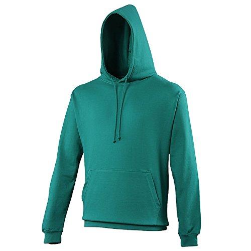 College hoodie Jade AWDis Hoods Streetwear Felpa Cappuccio Uomo Jade