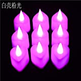 wangZJ LED Liebe elektronisches Kerzenlicht/Valentinstag Hochzeit Geständnis/Ehe herzförmige elektronische Kerze / 24 Stück/weiße Muschel Pulver Licht
