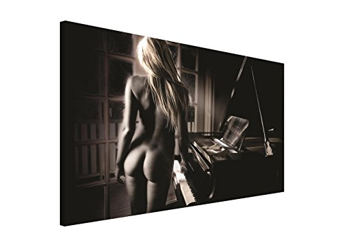 BILD WANDBILD BILDER WANDBILDER CANVAS- SEXY LADY AM PIANO 197 O1 (Lady-bild)