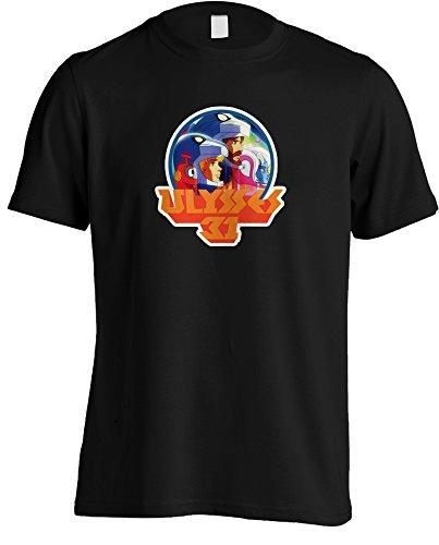 Meta Cortex T-shirts Ulysses 31–Retro 80DE la Serie de televisión T-Shirt Negro Negro X-Large