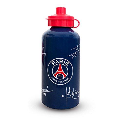 Paris Saint Germain Trinkflasche mit offiziellen Unterschriften der Spieler (Einheitsgröße) (Blau) (Der Spieler-klub)