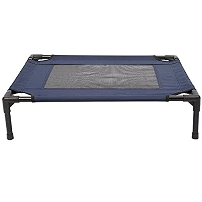Pawhut Dog Cat Puppy Pet Elevated Raised Cot Bed Portable Camping Basket ?Blue by Sold by MHSTAR