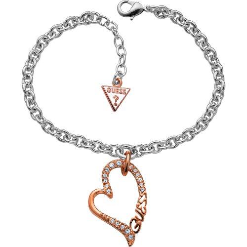 Guess ubb70202 bracciale con ciondolo a forma di cuore, da donna