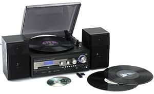 Reflexion HIF8181 Micro chaîne HiFi Vinyle / CD / Cassettes / Cartes SD et MMC / USB 2.0 Noir (Import Allemagne)