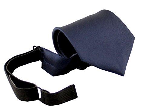 ADAMANT® Sicherheitskrawatte mit Gummizug und Spezialverschluss, mit Sollbruchstelle diverse Farben (Dunkelblau Gummiband)