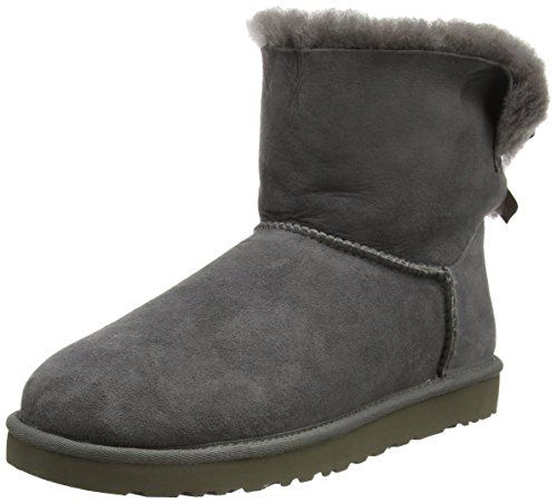 UGG Australia Mini Bailey Bow, Damen Stiefel, Grau (Grey), 41 EU (8.5 UK) (Womens Uggs Boots Bailey Bow)