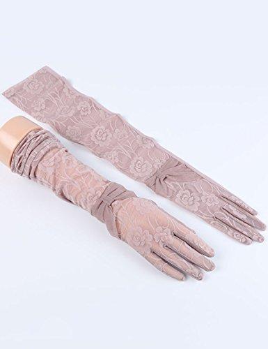 Femelle Été Thin Lace Long Drive Gloves Anti-dérapant Anti-UV Sun Shade Sunscreen Cuff ( Couleur : 5 ) 4