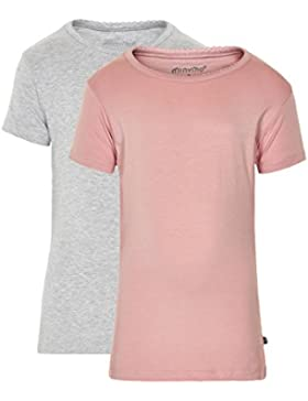 MINYMO Mädchen T-Shirt Basic 33 -T-shirt Ss (2-pack)