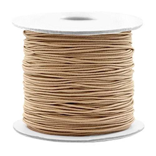 iband, Elastische Schnur Rund, 90 Meter, Perlenschnur 0,8 mm, Gummischnur für Armbänder Schmuck DIY, Farbe:Taupe Braun ()