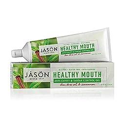 JASON Healthy Mouth Anti-Cavity & Tartar Control Toothpaste Gel, Tee Tree Oil & Cinnamon, 6 oz. (Packaging May Vary)