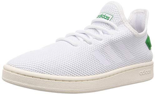 adidas Mens Court Adapt Sneaker, Weiß Ftwbla/Green 000, 43 1/3 - Tennis Adidas Herren Schuhe