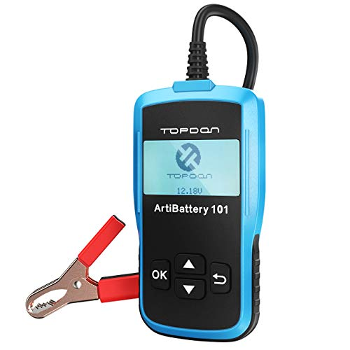 TT TOPDONAB101 Autobatterie-Tester Autobatterieanalysator für Cranking & Charging Test und Battary Load Test (12 & 24V)