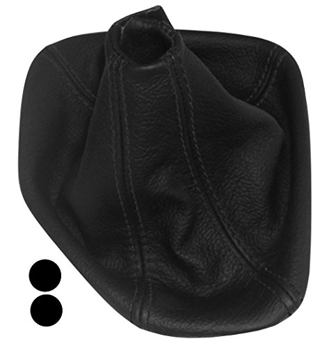 Aerzetix - Schaltsack Schalthebelmanschetten Schalthebelmanschette Schaltbetätigungs Schwarze Farbe 100% Echtes Leder (Schwarze Nähten)