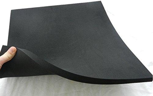 Zellkautschuk Moosgummi Polster Motorradsitz Höcker ca. 50 x 50 x 2 cm, schwarz